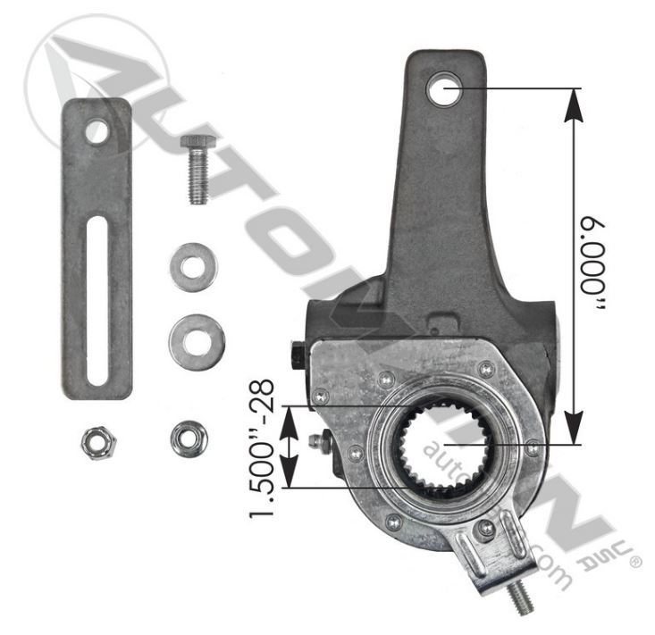 HALDEX TYPE S/SETTING SLACK ADJUSTER 6IN,135 S2836,FREE Shipping