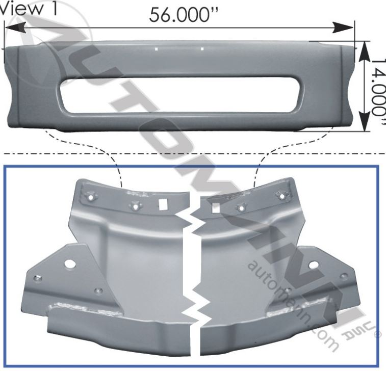 CENTER BUMPER M2-112 FREIGHTLINER A2128177007,564 46225,FREE Shipping
