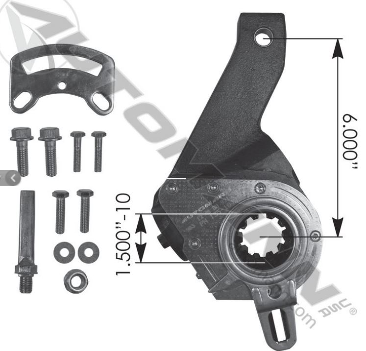 HALDEX TYPE SLACK ADJUSTER 6IN M807007,135 1042,FREE FREIGHT