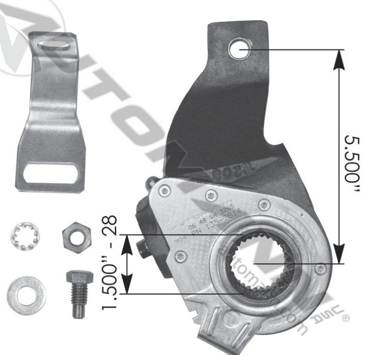 HALDEX TYPE SLACK ADJUSTER 5 5IN 25QD338P5,R806501A,40010010,135 2814